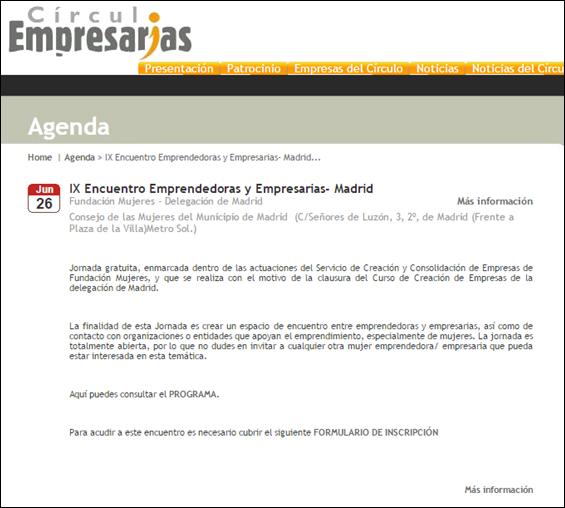 Noticia IX Encuentro Circulo empresarias Lemon Jelly 1