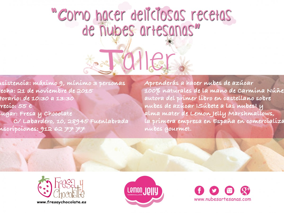 Flyer Lemon Jelly cursos RGB